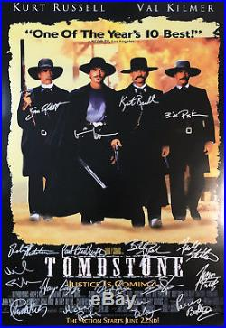 TOMBSTONE MOVIE POSTER Signed by 17 withCOA! Star Wars