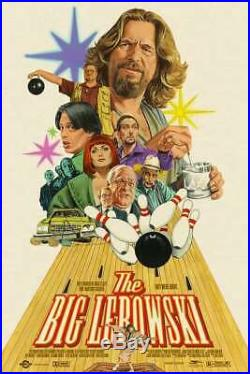 The Big Lebowski Paul Mann Screen Printed Movie poster Not Mondo, Bottleneck