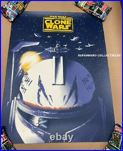 The Clone Wars Screen Print Poster #154/175 Willoughby Mondo Artist Star Wars
