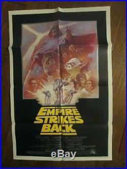 The Empire Strikes Back Original 1981 1sheet Movie Poster- Star Wars