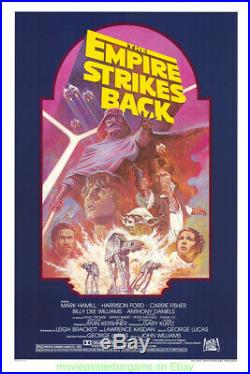The Empire Strikes Back R1982 Rolled Mint Orig! Nal 27x41 One Sheet Star Wars