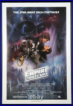 The Empire Strikes Back Star Wars 1980 Gwtw Nss Style A 1-sheet Linenbacked