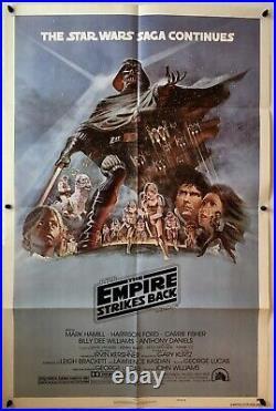 The Empire Strikes Back Star Wars Original Movie Poster 1980