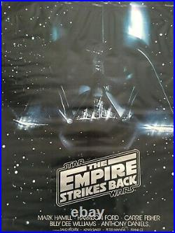 The Empire Strikes Back US original One Sheet movie poster, Star Wars