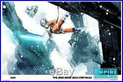 The Empire Strikes Back (Variant) by Jock Art Print Poster Movie Mondo Star Wars