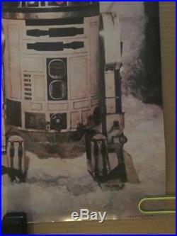 The Empire Strikes Back Vintage Poster Star Wars Original Movie Pin-up R2D2 C3PO