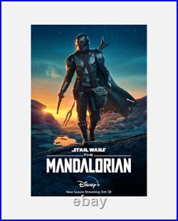 The Mandalorian Original 27x40 Poster One Sheet RARE Star Wars Official Disney
