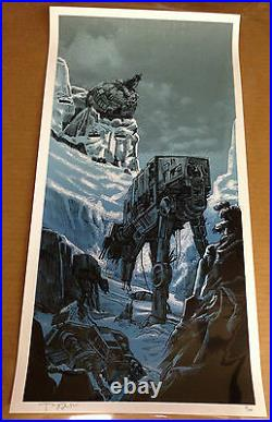 Tim Doyle THE BIG BATTLE UnReal Estate Star Wars Hoth Movie Print LE #80 of 400