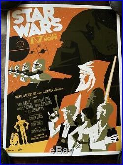 Tom Whalen Star Wars IV A New Hope Art Print Movie Poster 11x14 Mondo Vader
