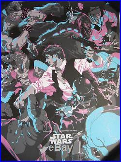 Tomer Hanuka Star Wars Movie Poster Print A New Hope Lucas neon Han