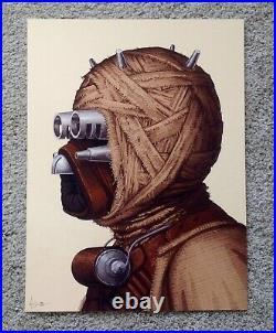 Tusken Raider Mike Mitchell Star Wars Portrait Art Print Poster Mondo