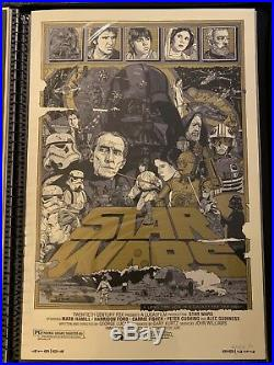 Tyler Stout STAR WARS A NEW HOPE Variant Mondo Movie Poster Print Signed