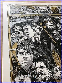 Tyler Stout STAR WARS Poster REVENGE OF THE JEDI Mondo Screen Print Moss Last