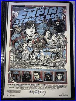 Tyler Stout Signed Mondo Star Wars The Empire Strikes Back Print Movie Poster SN