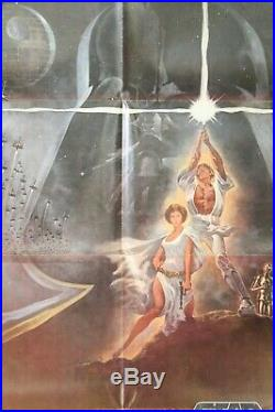 VINTAGE 1977 STAR WARS 77/21 Style A movie poster not a reproduction FOLDED