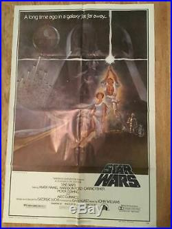 Vintage 1977 Original STAR WARS A New Hope One Sheet Style A Movie Poster 77/21