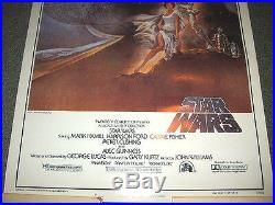 Vintage 1977 STAR WARS Fan Club Movie PosterExcellent to NM Unused Condition