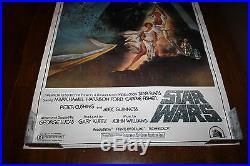 Vintage 1982 Star Wars Soundtrack In Store 28x20 Poster