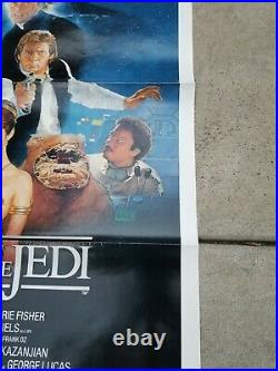 Vintage 1983 Star Wars Return Of The Jedi One Sheet Movie Poster Style B Unused