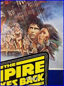 Vintage Original Star Wars THE EMPIRE STRIKES BACK foreign movie poster French