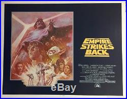 Vintage Original Star Wars The Empire Strikes Back Half Sheet Movie Poster 1981