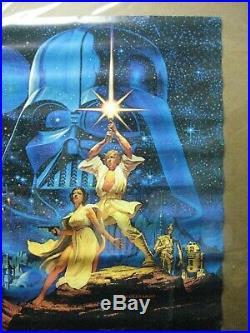 Vintage Poster Star Wars Starwars the Movie 1970's Inv#4697