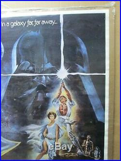 Vintage Poster Star Wars Starwars the Movie 1970's Inv#G4635