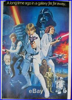 Vintage Rare Original 1977 STAR WARS version c Australian daybill poster