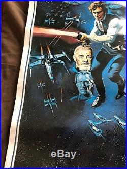Vintage STAR WARS Original 1977 Movie Poster 36 x 24 Litho PTW 531