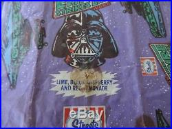 Vintage Star Wars ESB Darth Vader Ice Cream icy pole block Wrapper Streets
