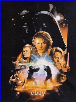 Vintage Star Wars Episode 3 Revenge Of The Sith T Shirt Size XL Movie Poster