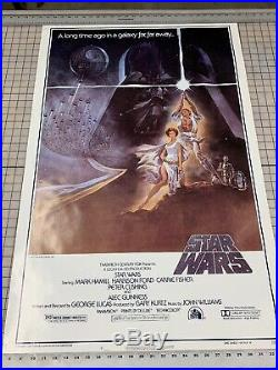 Vintage Star Wars Original Movie Poster 1977 One sheet Style A 77-21-0 No Folds