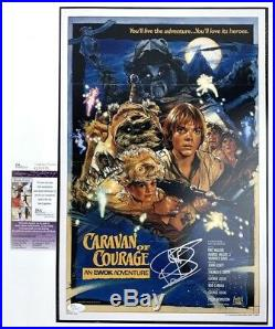 WARWICK DAVIS signed 12x18 Poster CARAVAN OF COURAGE Ewok Star Wars JSA