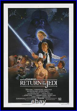 WHITE TITLE VARIANT Star Wars The Return of the Jedi MINT ROLLED MOVIE POSTER
